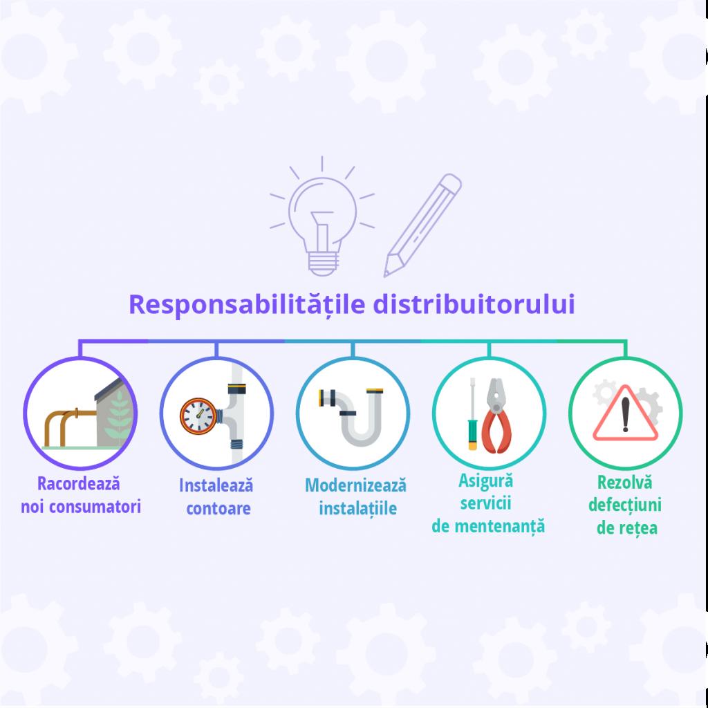Care sunt responsabilitatile distribuitorului de gaz - Despre Energie