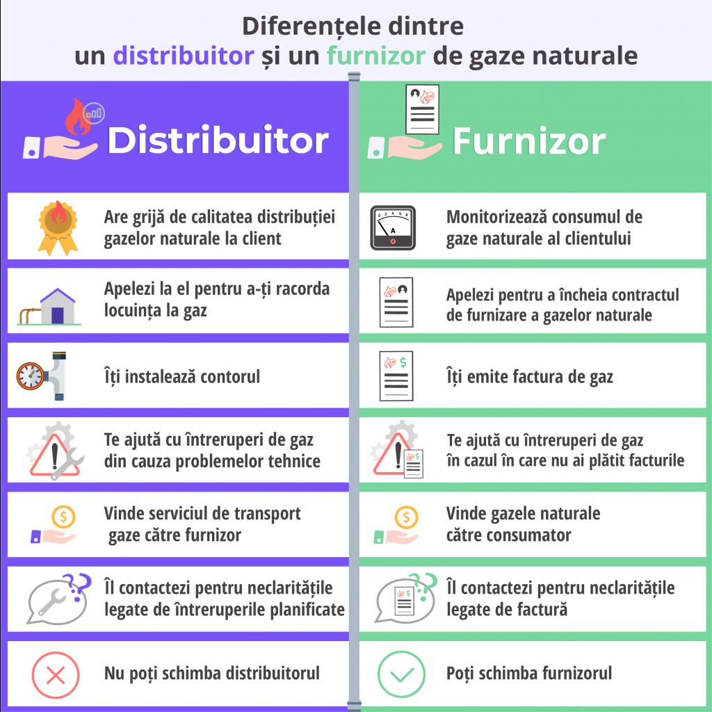 Diferențele dintre un distribuitor si un furnizor de gaze naturale - Despre Energie