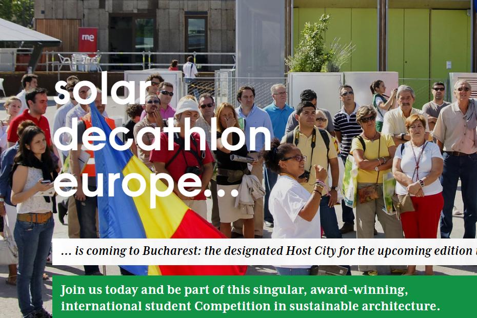 Bucureștiul va fi, în 2023, gazda Solar Decathlon Europe